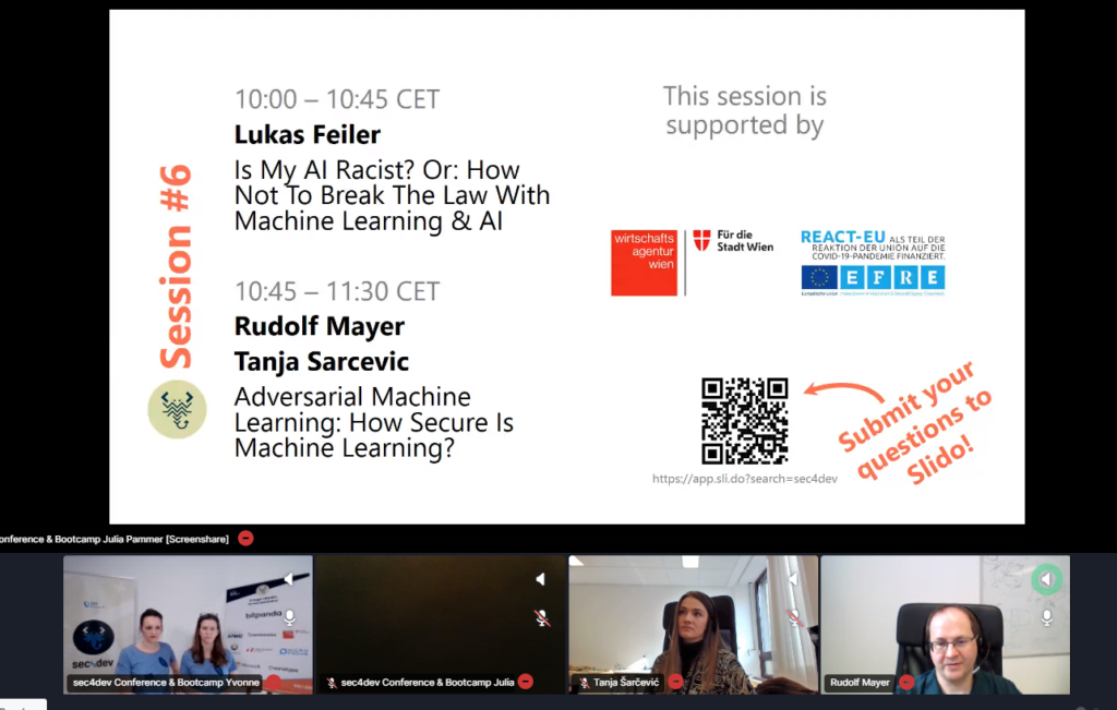 sec4dev 2021 talk Adversarial Machine Learning