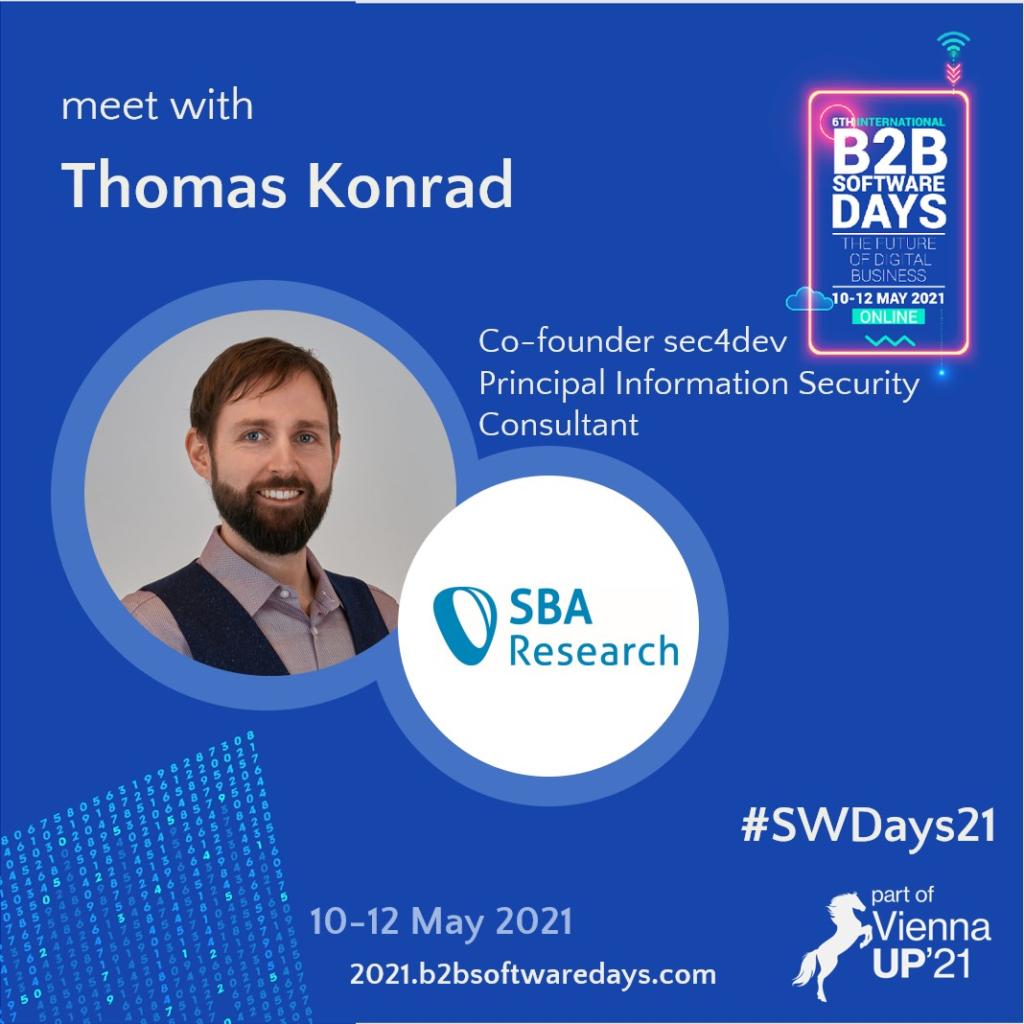 B2B Software Days Flyer Talk Tom Konrad